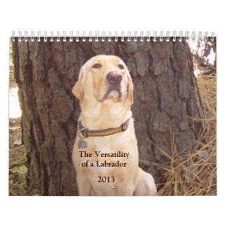 Yellow Lab Calendar - 2013