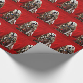 Yellow lab Christmas Wrapping Paper
