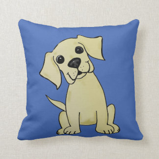 Yellow Lab Cute Throw Pillow