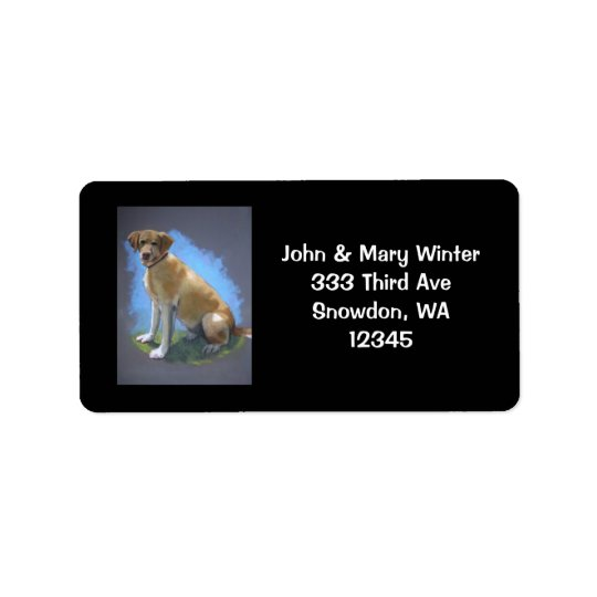 YELLOW LAB, DOG: ADDRESS LABELS: ORIGINAL ART