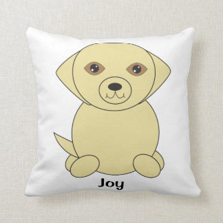 Yellow Lab Dog Cute Personalize Throw Pillow