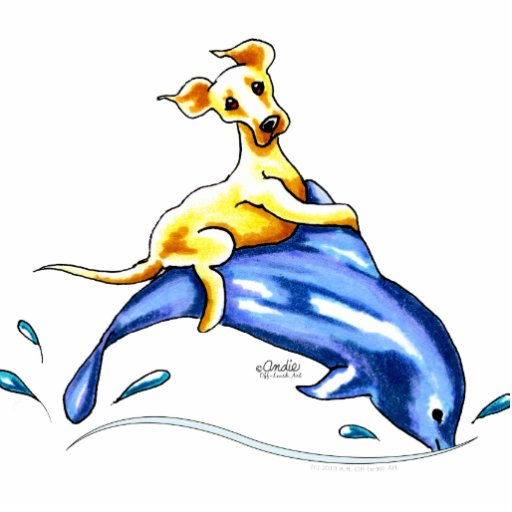 Yellow Lab Dolphin Ride Photo Sculptures