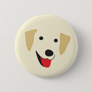 Yellow Lab Face 2 Inch Round Button