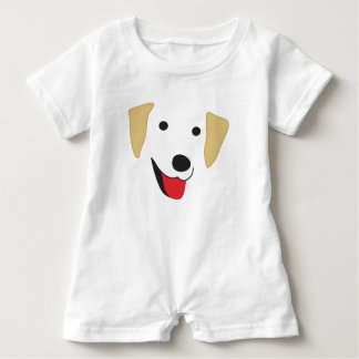 Yellow Lab Face Baby Romper