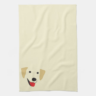 Yellow Lab Face Kitchen Towel