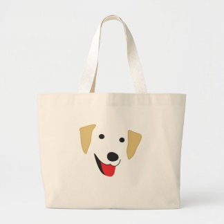 Yellow Lab Face Large Tote Bag