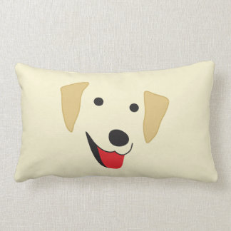 Yellow Lab Face Lumbar Pillow