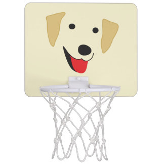Yellow Lab Face Mini Basketball Hoop