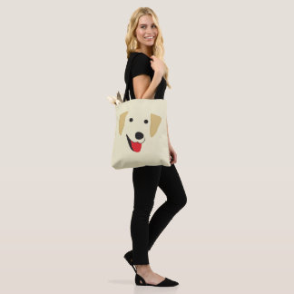 Yellow Lab Face Tote Bag