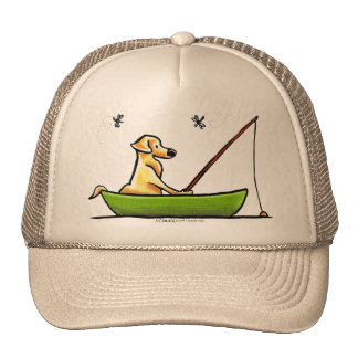 Yellow Lab Fishing Trucker Hat