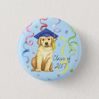 Yellow Lab Graduate 1 Inch Round Button