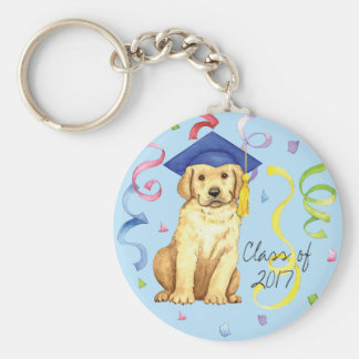 Yellow Lab Graduate Keychain
