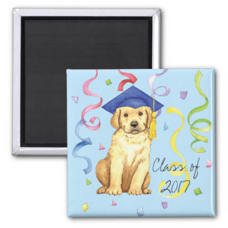 Yellow Lab Graduate Magnet