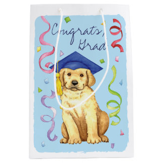 Yellow Lab Graduate Medium Gift Bag