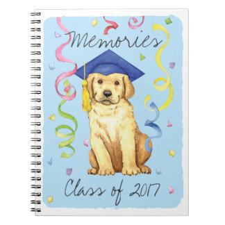 Yellow Lab Graduate Notebook