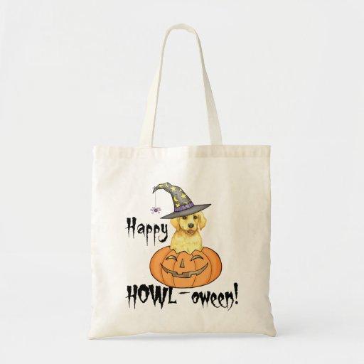 Yellow Lab Halloween Tote Bag