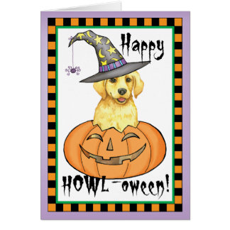 Yellow Lab Halloween Greeting Cards