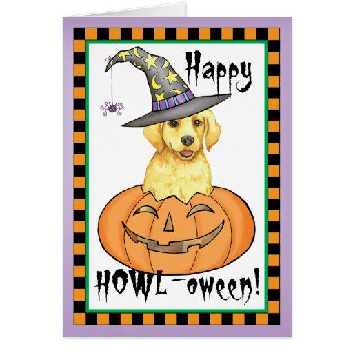 Yellow Lab Halloween Greeting Cards