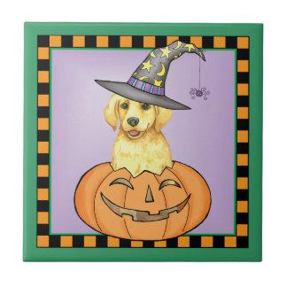 Yellow Lab Halloween Ceramic Tiles
