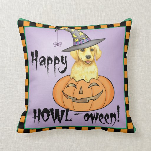 Yellow Lab Halloween Pillows