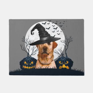 Yellow Lab Halloween Pumpkin Patch Doormat