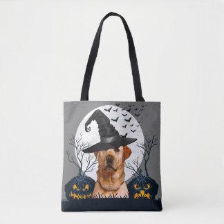 Yellow Lab Halloween Pumpkin Patch Tote Bag