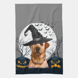 Yellow Lab Halloween Pumpkin Patch Towel