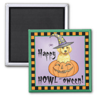 Yellow Lab Halloween Square Magnet