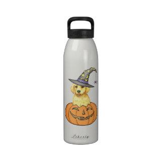 Yellow Lab Halloween Reusable Water Bottles