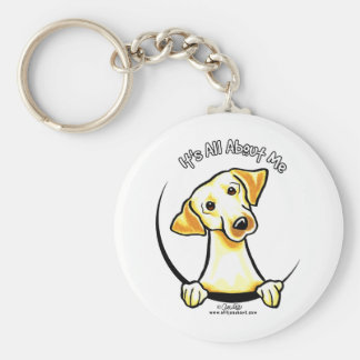 Yellow Lab Its All About Me Basic Round Button Keychain