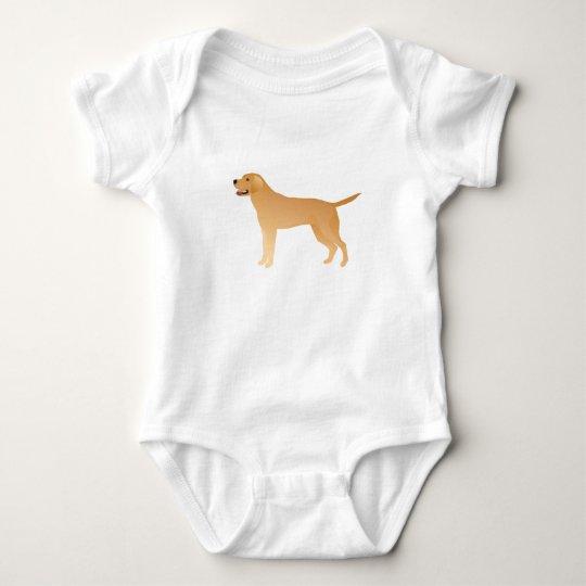 Yellow Lab - Labrador Retriever Breed Silhouette Baby Bodysuit