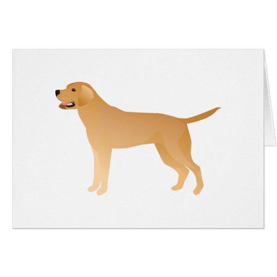 Yellow Lab - Labrador Retriever Breed Silhouette Card