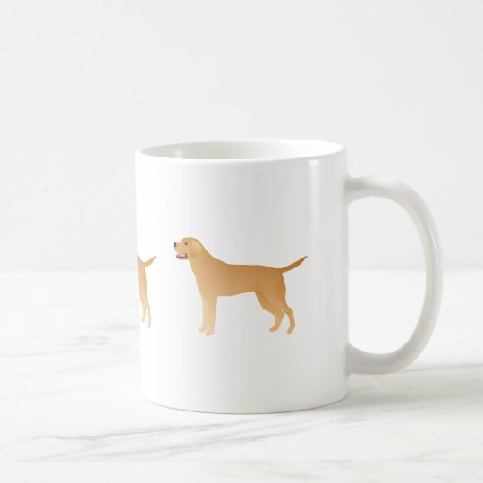 Yellow Lab - Labrador Retriever Breed Silhouette Coffee Mug