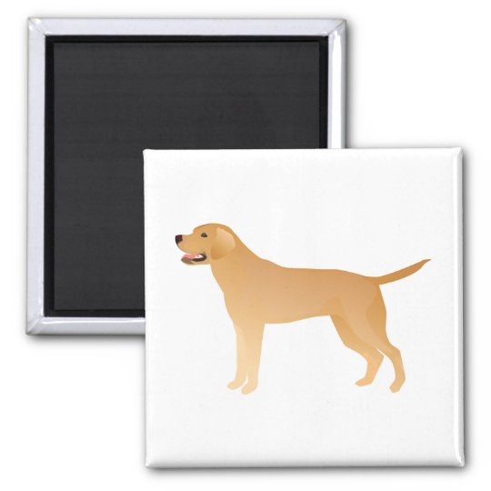 Yellow Lab - Labrador Retriever Breed Silhouette Magnet