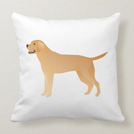 Yellow Lab - Labrador Retriever Breed Silhouette Throw Pillow