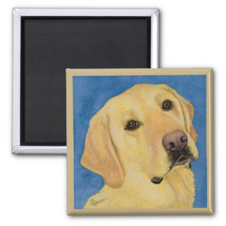 """Yellow Lab Magnet - """"River"""""""