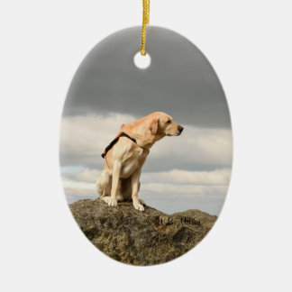 Yellow Lab Ornament