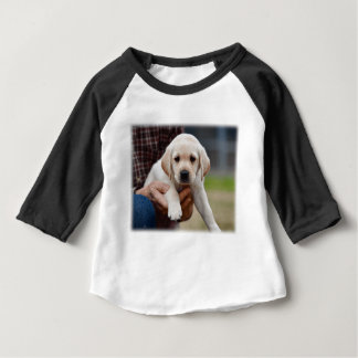 Yellow Lab Puppy Being Held By a Friend Baby T-Shirt