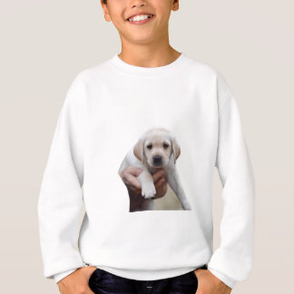 Yellow Lab Puppy Being Held By a Friend Sweatshirt