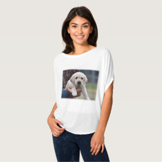 Yellow Lab Puppy Being Held By a Friend T-Shirt
