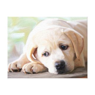 Yellow Lab Puppy Canvas Art Labrador Retriever Dog