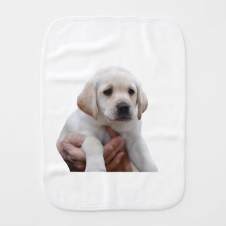 Yellow Lab Puppy In My Arms Burp Cloth