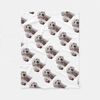 Yellow Lab Puppy In My Arms Fleece Blanket