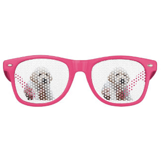 Yellow Lab Puppy In My Arms Retro Sunglasses
