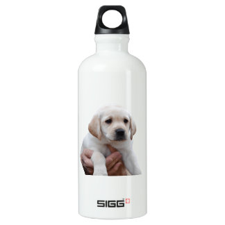 Yellow Lab Puppy In My Arms Water Bottle