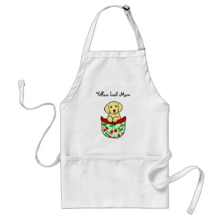 Yellow Lab Puppy in the Pocket Standard Apron