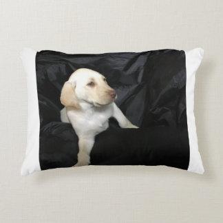 Yellow lab puppy Sadie Decorative Pillow