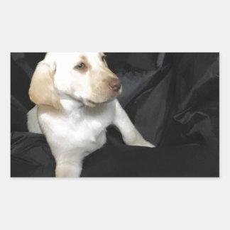 Yellow lab puppy Sadie Sticker