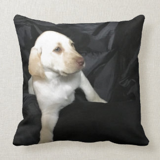 Yellow Lab Puppy Sadie Throw Pillow