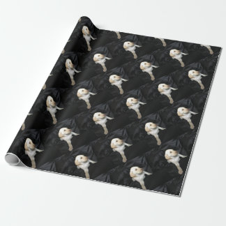 yellow lab puppy wrapping paper